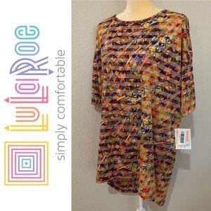 LuLaRoe Irma Colorful High Low Oversized Shirt S